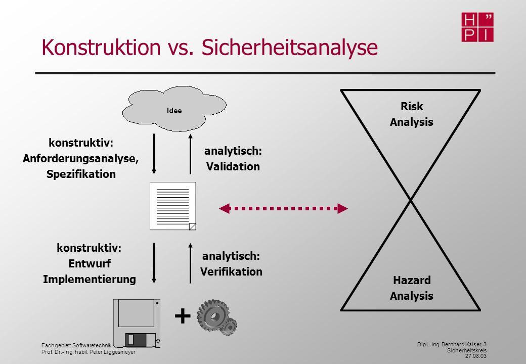 Konstruktion vs. Sicherheitsanalyse