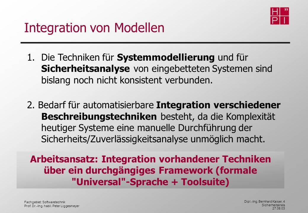 Integration von Modellen