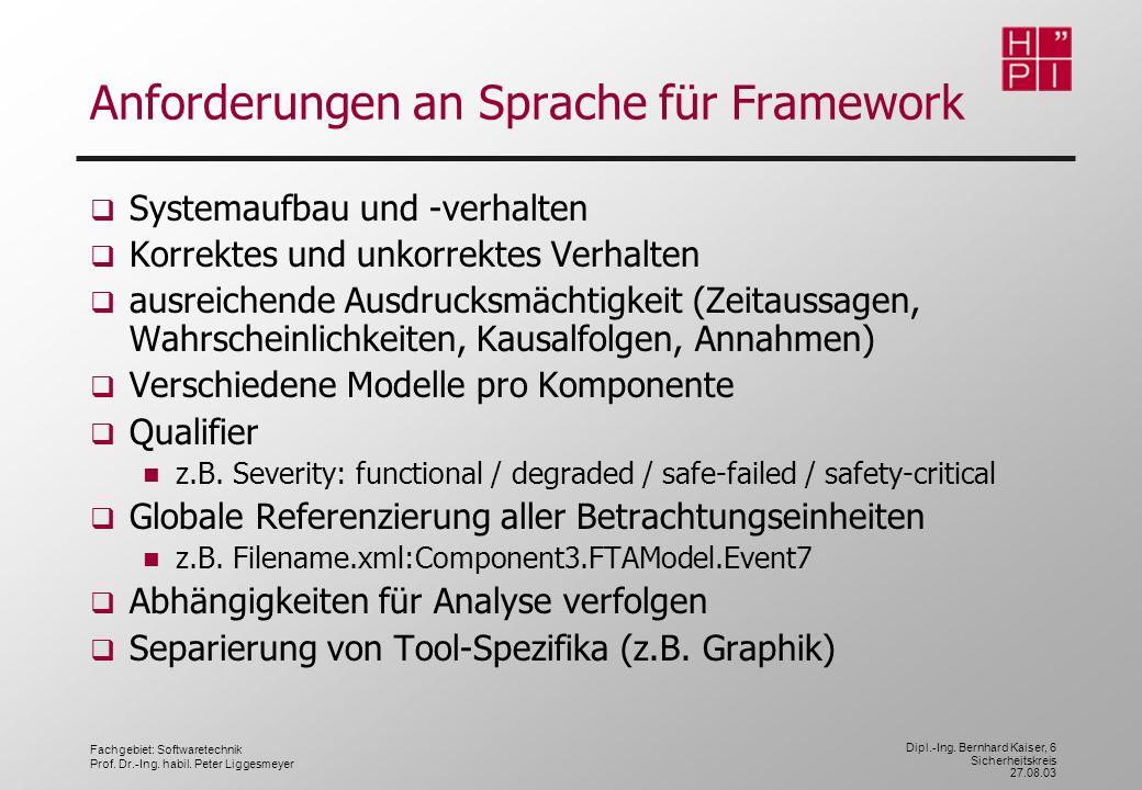 Anforderungen an Sprache für Framework
