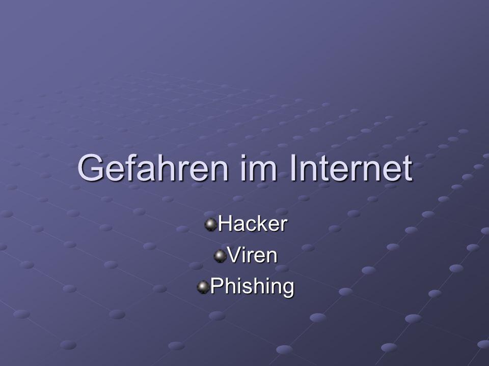 Gefahren im Internet Hacker Viren Phishing