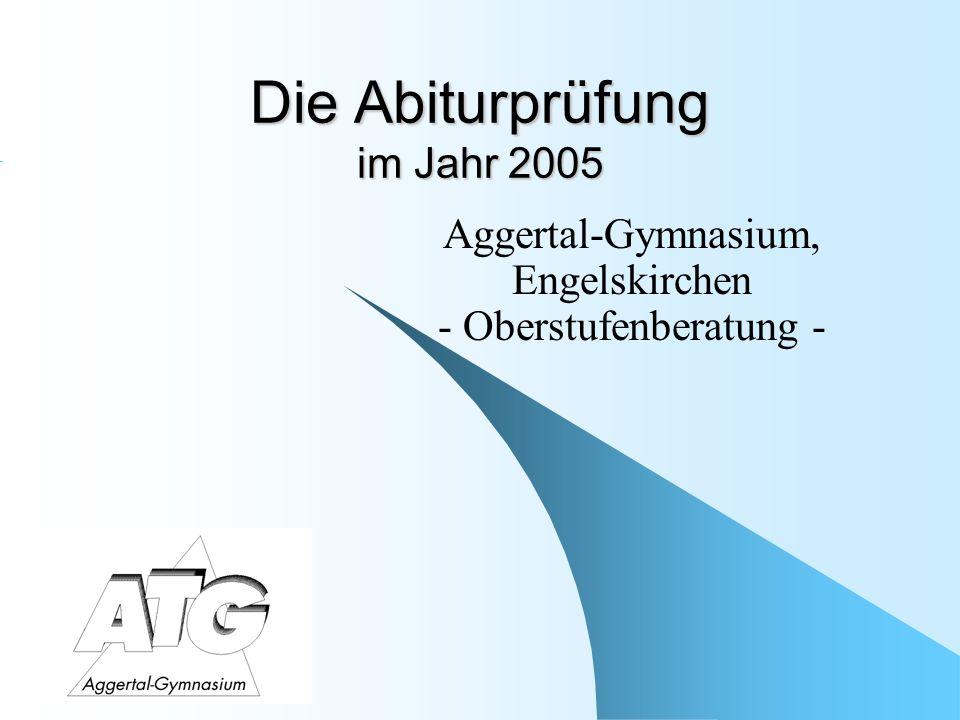 Die Abiturprüfung im Jahr 2005
