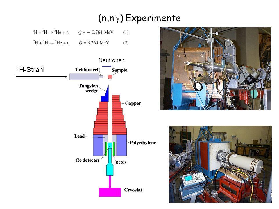 (n,n'g) Experimente 1H-Strahl Neutronen