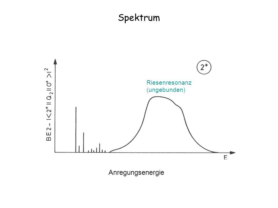 Spektrum Anregungsenergie Riesenresonanz (ungebunden)