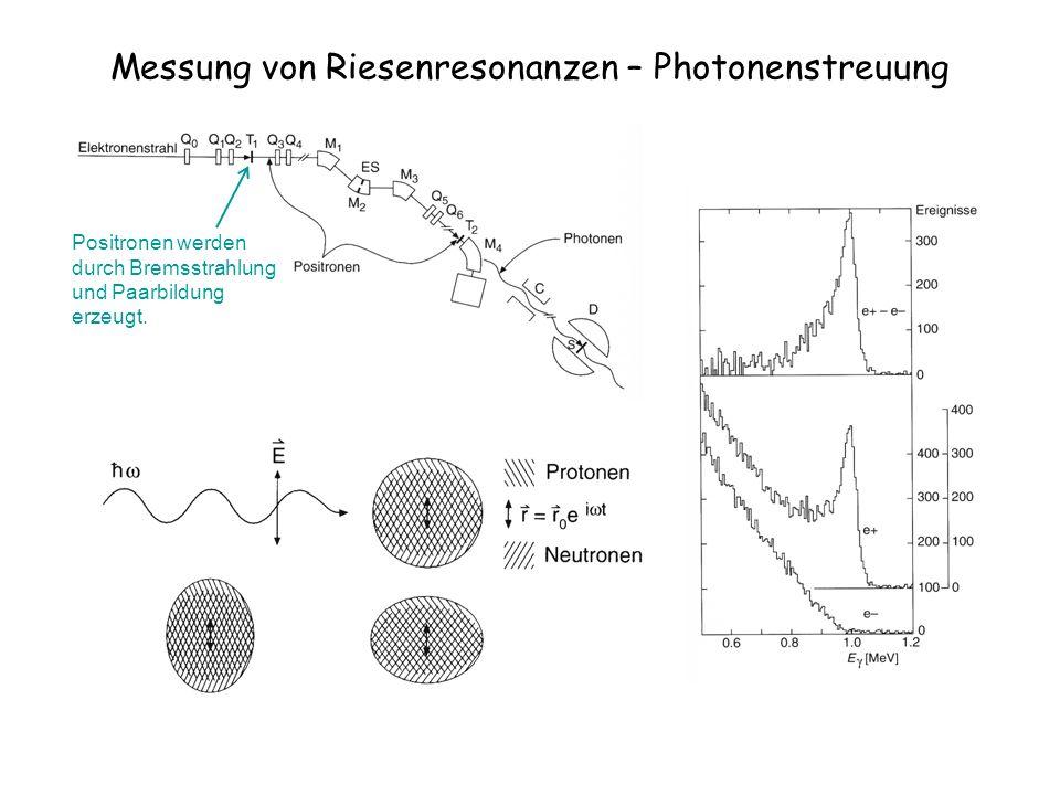 Messung von Riesenresonanzen – Photonenstreuung