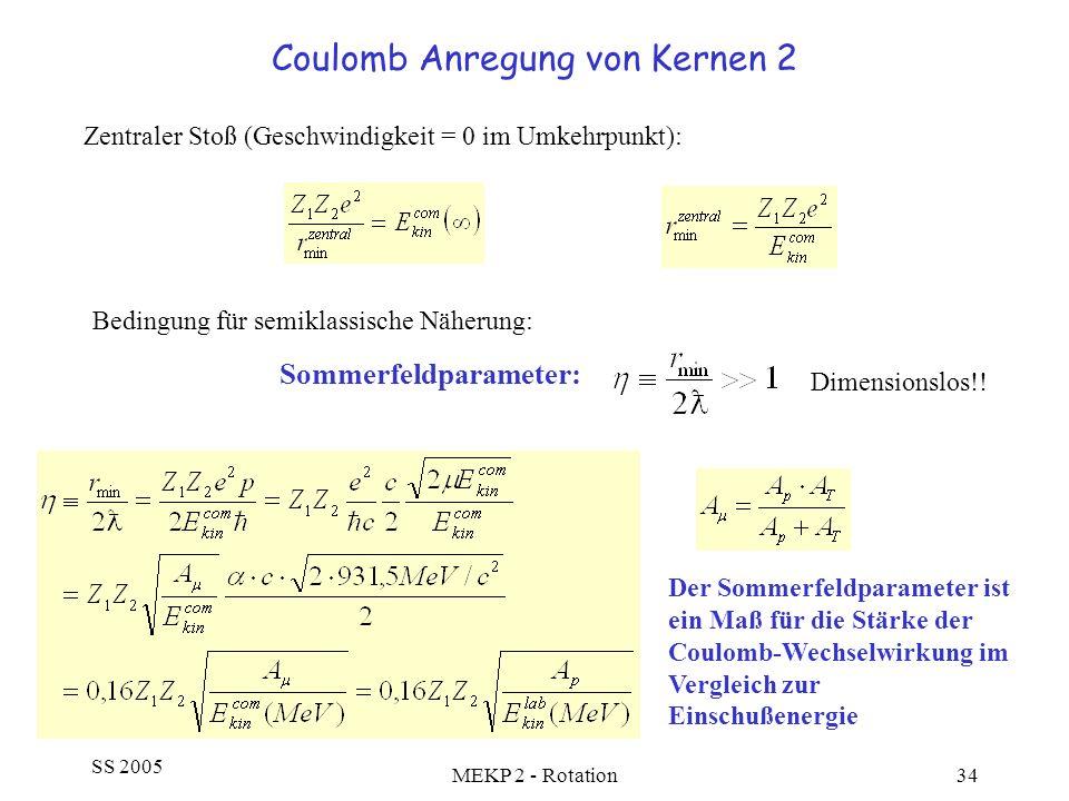 Coulomb Anregung von Kernen 2