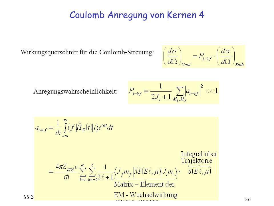 Coulomb Anregung von Kernen 4