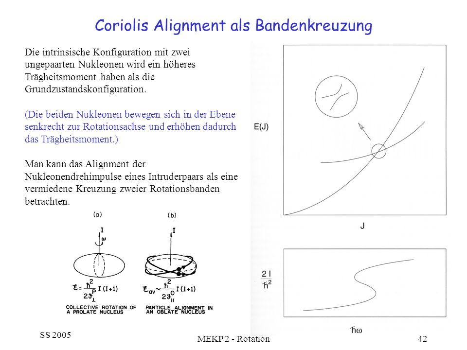 Coriolis Alignment als Bandenkreuzung