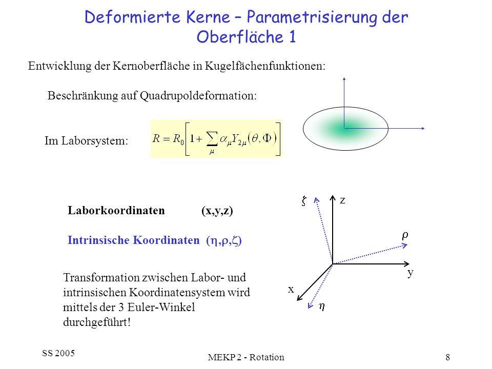 Deformierte Kerne – Parametrisierung der Oberfläche 1
