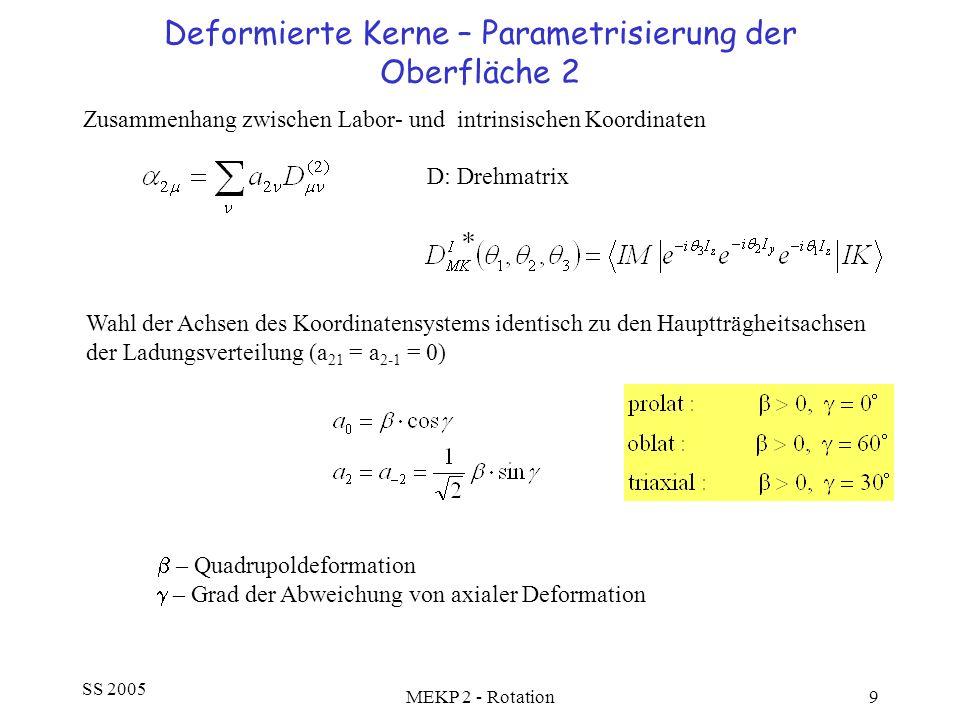 Deformierte Kerne – Parametrisierung der Oberfläche 2