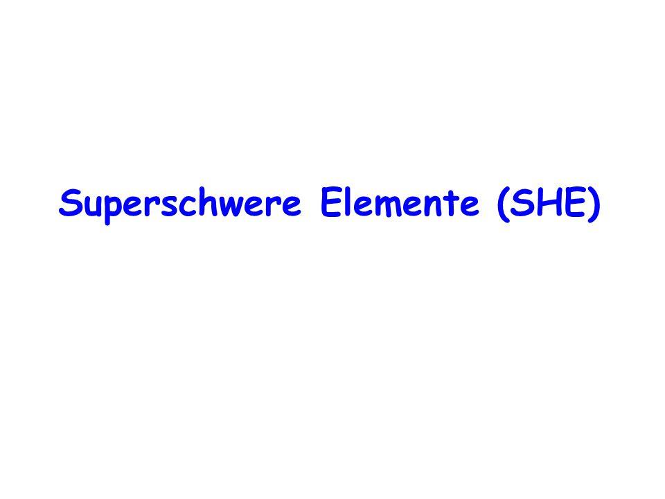 Superschwere Elemente (SHE)