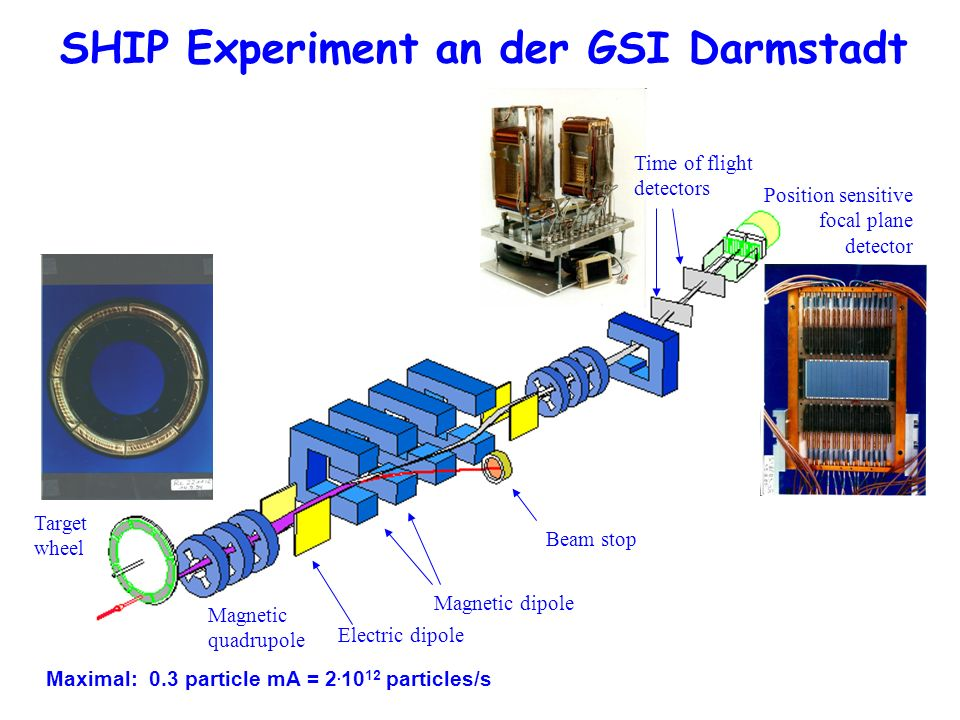 SHIP Experiment an der GSI Darmstadt