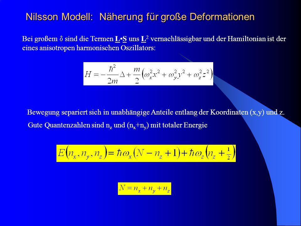 Nilsson Modell: Näherung für große Deformationen