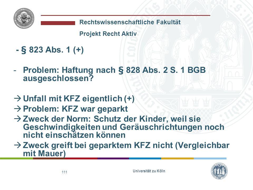 Problem: Haftung nach § 828 Abs. 2 S. 1 BGB ausgeschlossen