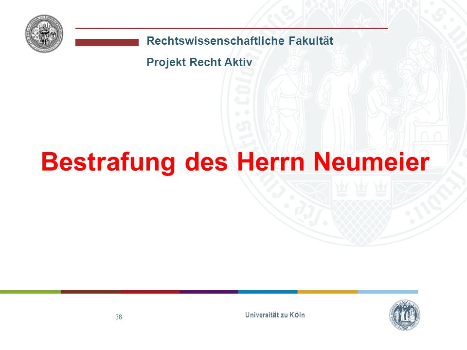 Bestrafung des Herrn Neumeier
