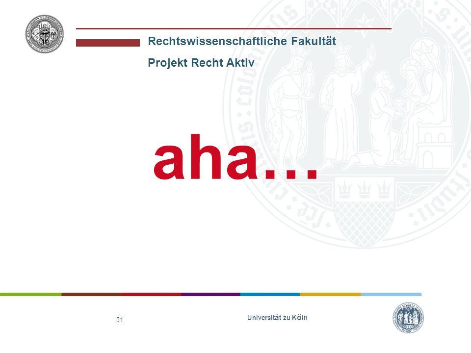 aha… Universität zu Köln