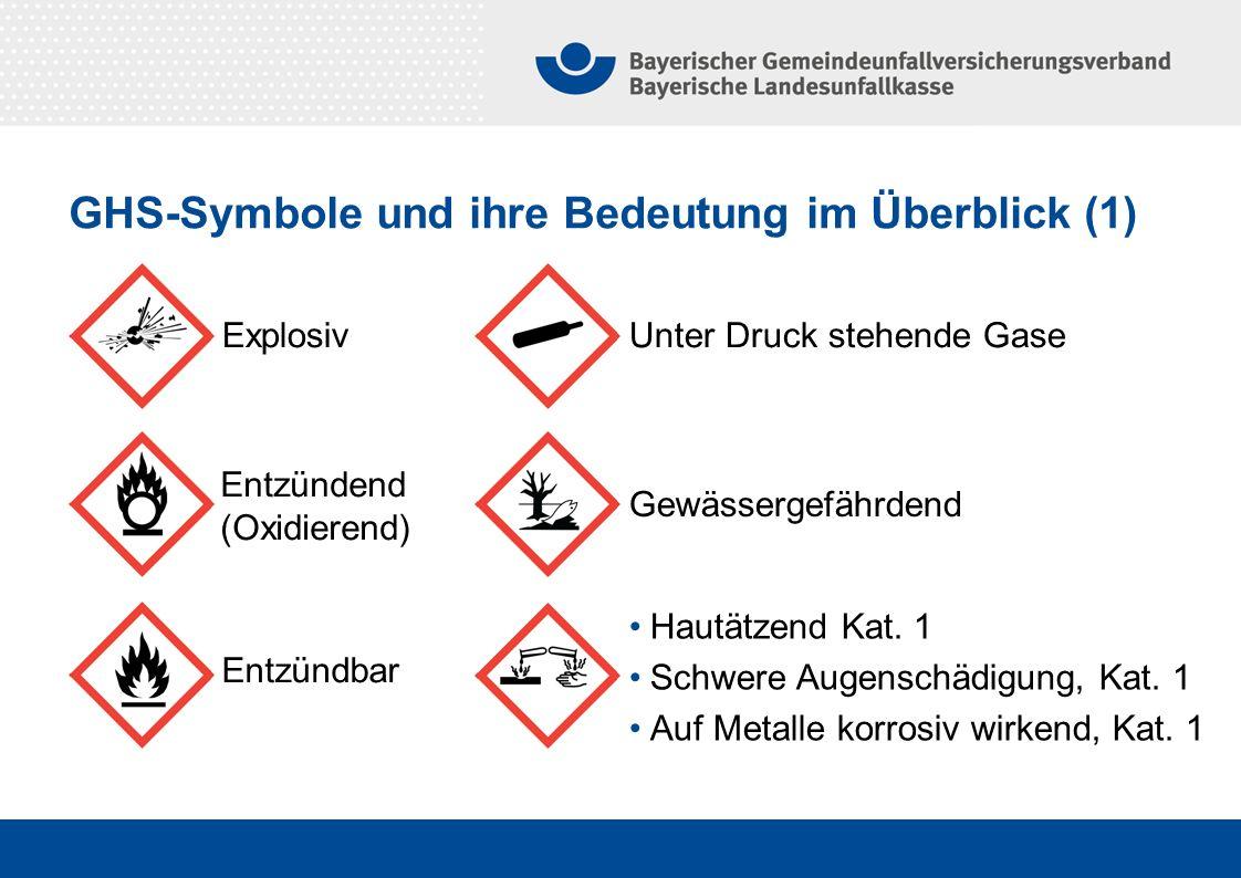 GHS-Symbole und ihre Bedeutung im Überblick (1)