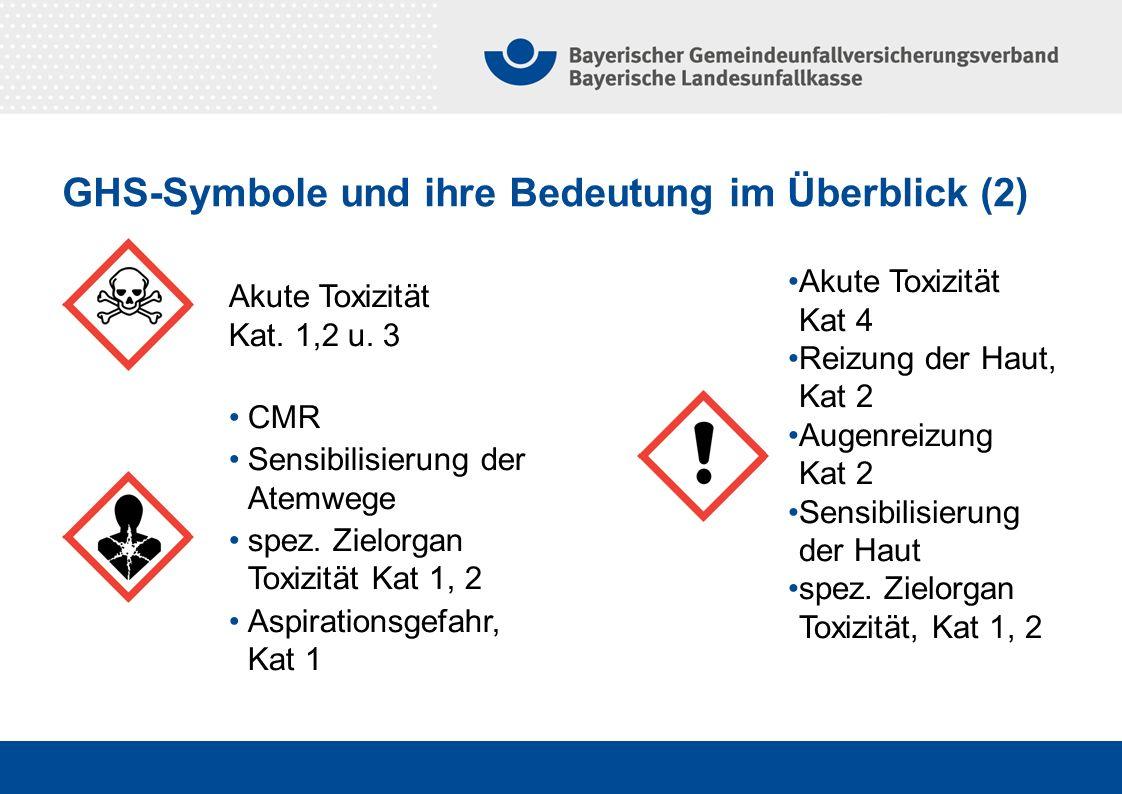 GHS-Symbole und ihre Bedeutung im Überblick (2)