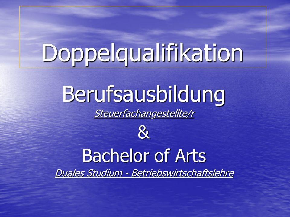 Doppelqualifikation Berufsausbildung & Bachelor of Arts