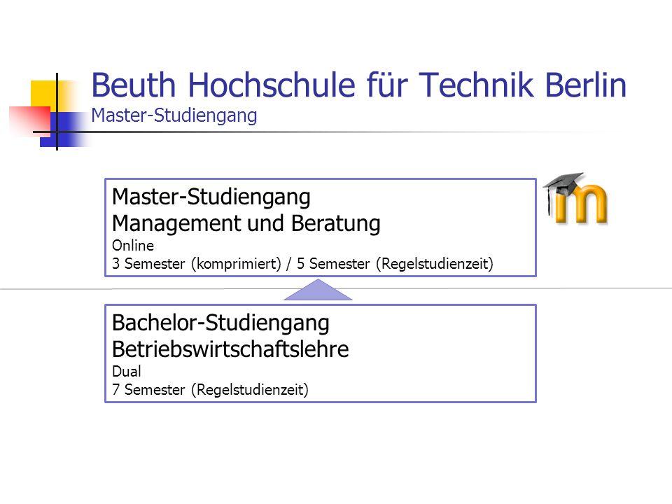Beuth Hochschule für Technik Berlin Master-Studiengang