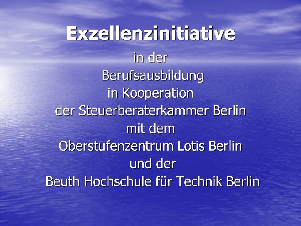 Exzellenzinitiative in der Berufsausbildung in Kooperation