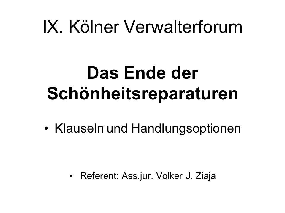 IX. Kölner Verwalterforum