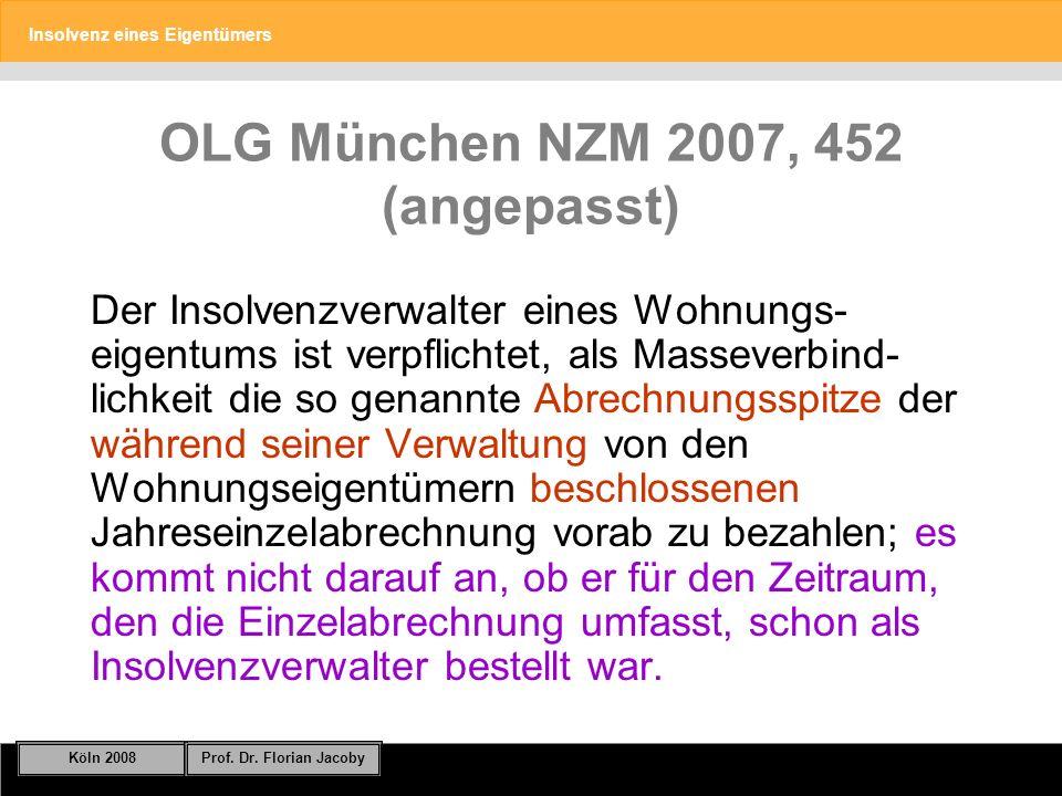 OLG München NZM 2007, 452 (angepasst)