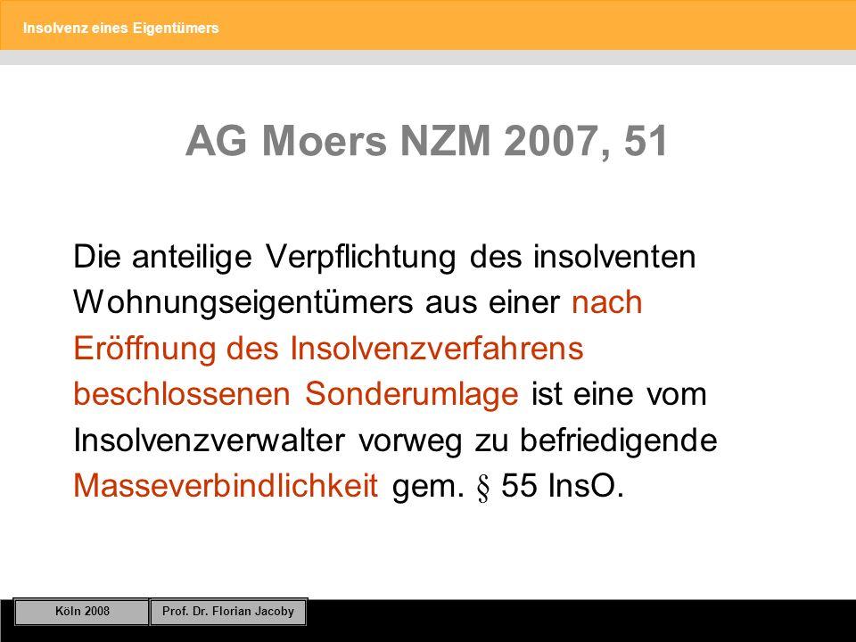 AG Moers NZM 2007, 51