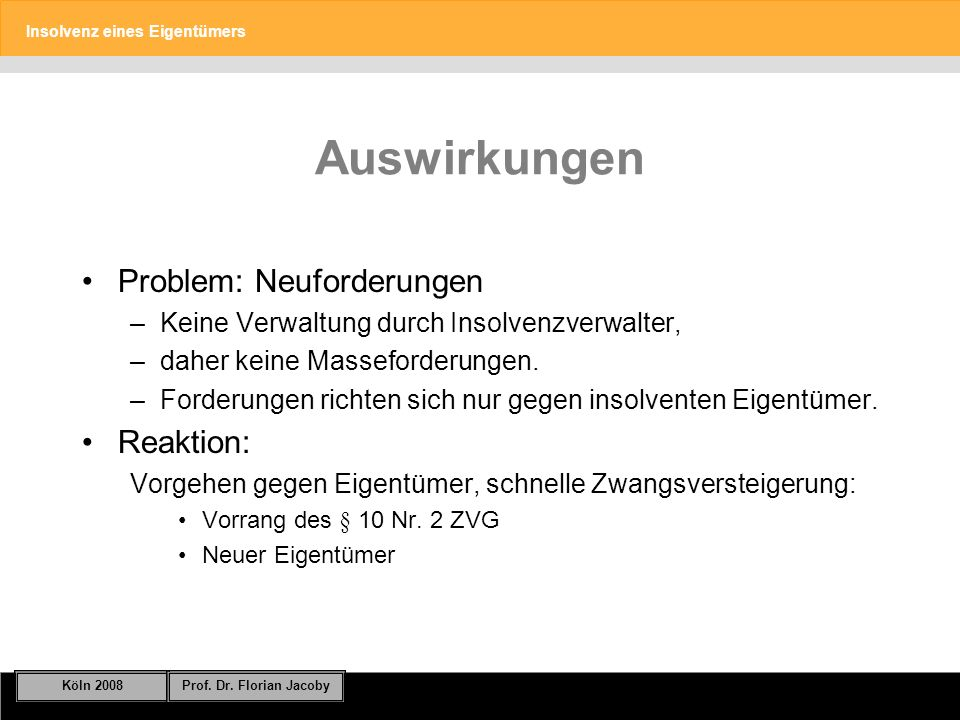 Auswirkungen Problem: Neuforderungen Reaktion: