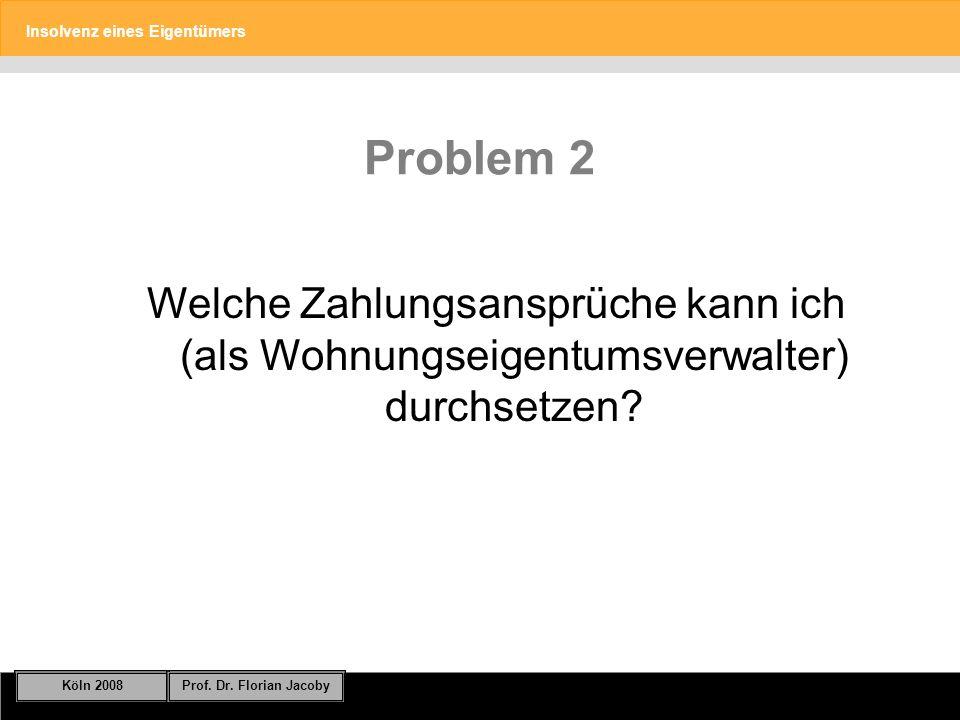 Problem 2 Welche Zahlungsansprüche kann ich (als Wohnungseigentumsverwalter) durchsetzen