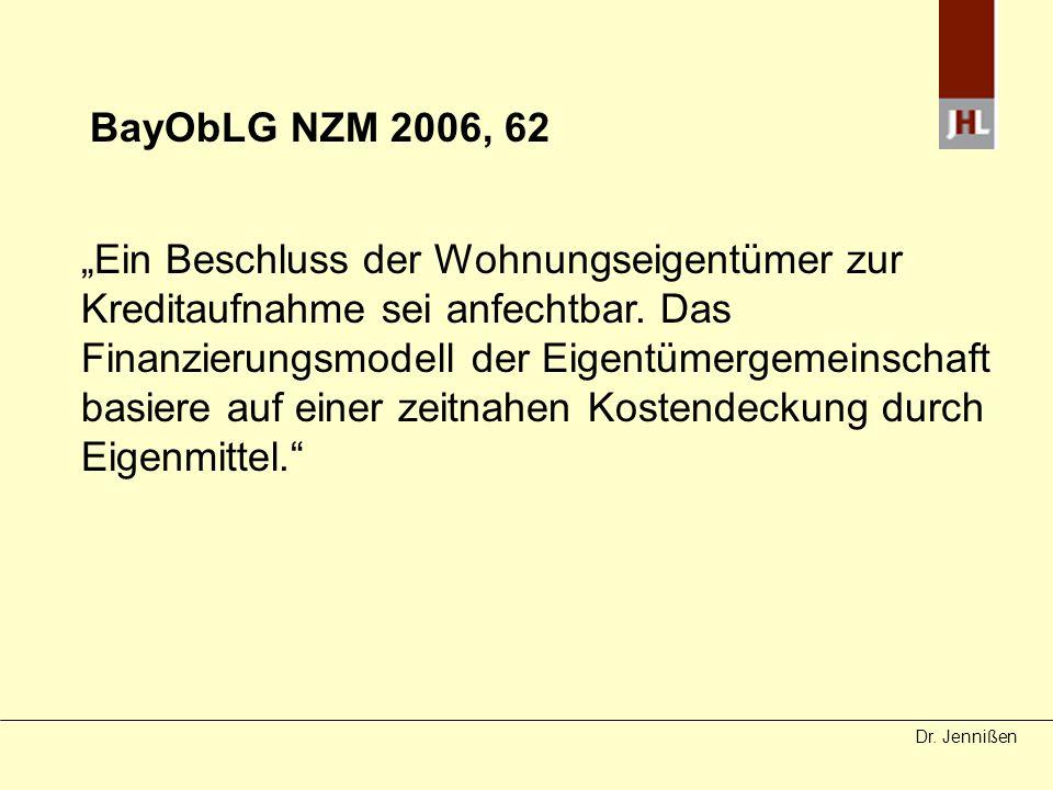 BayObLG NZM 2006, 62