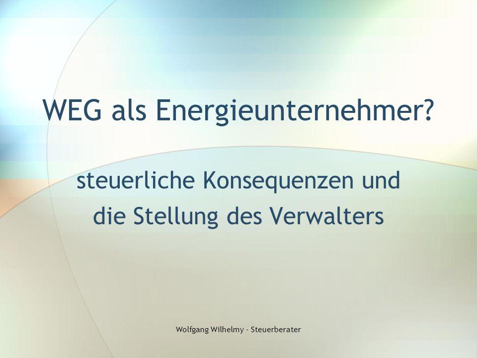 WEG als Energieunternehmer