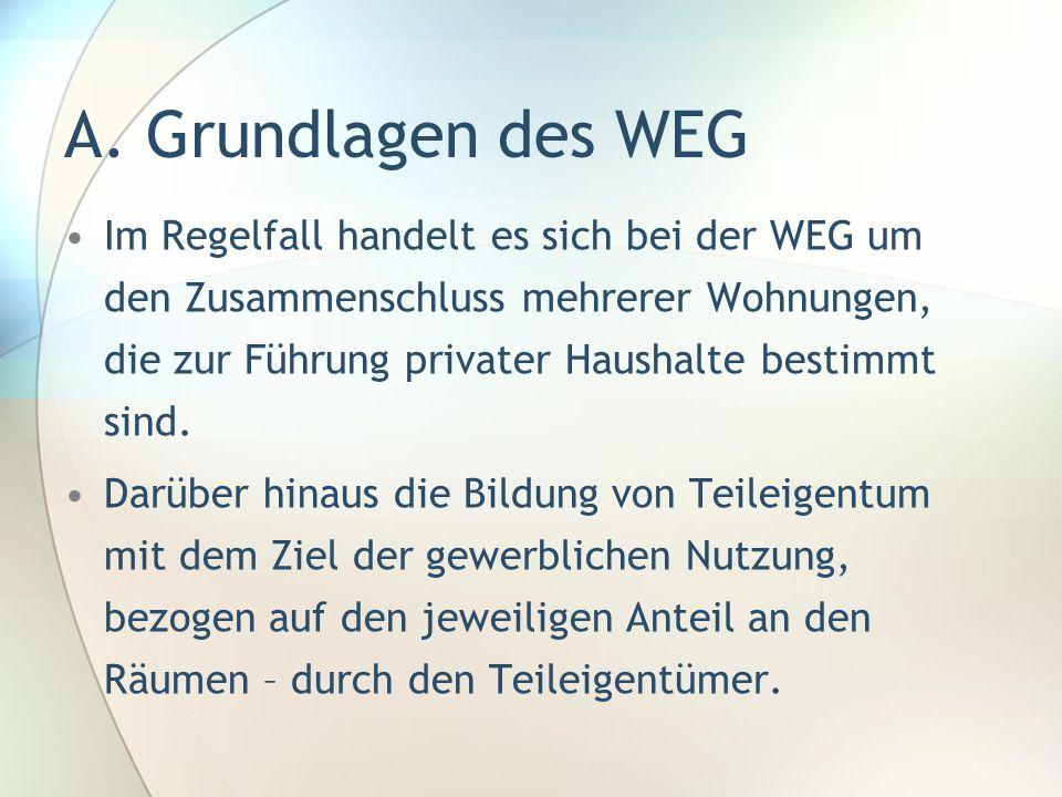 A. Grundlagen des WEG