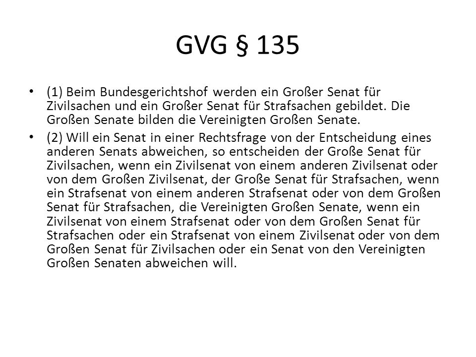 GVG § 135