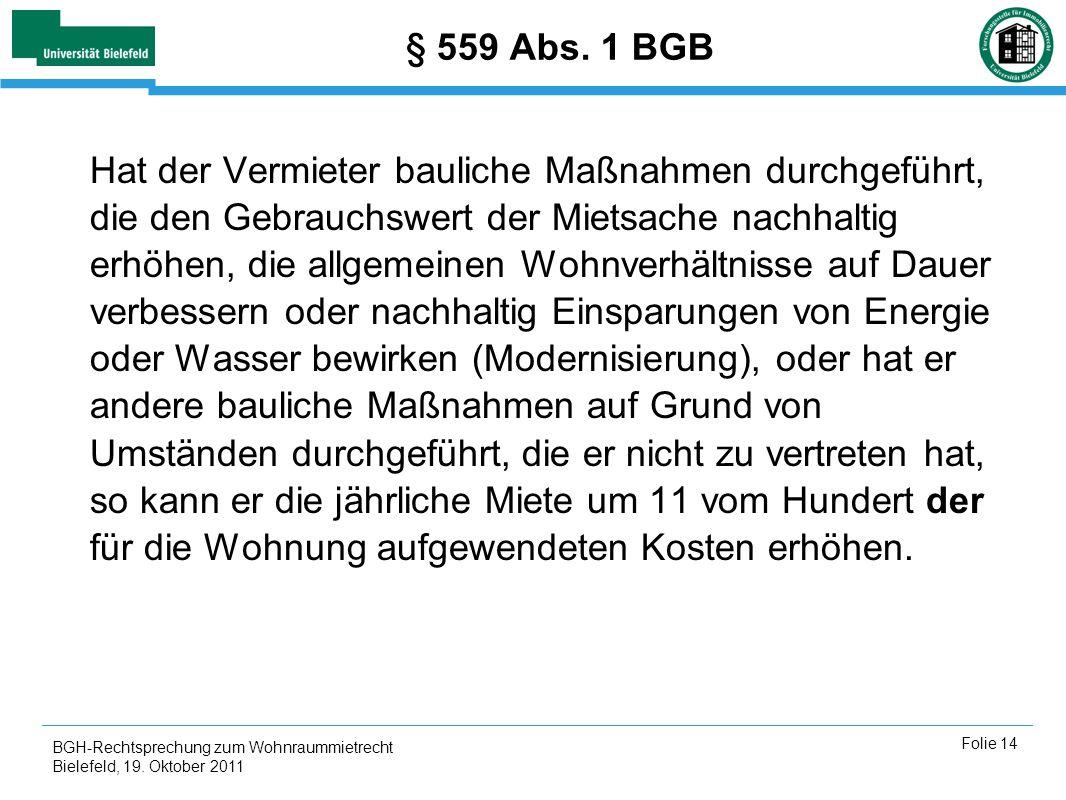 § 559 Abs. 1 BGB