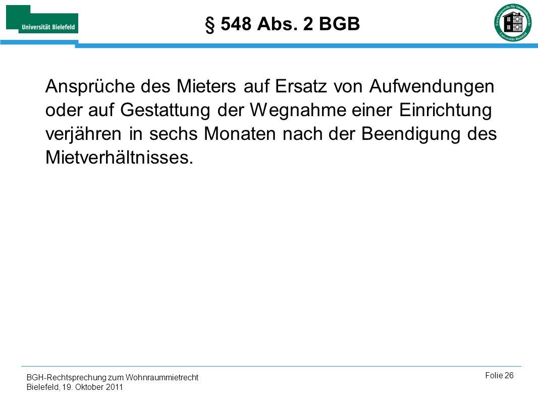 § 548 Abs. 2 BGB