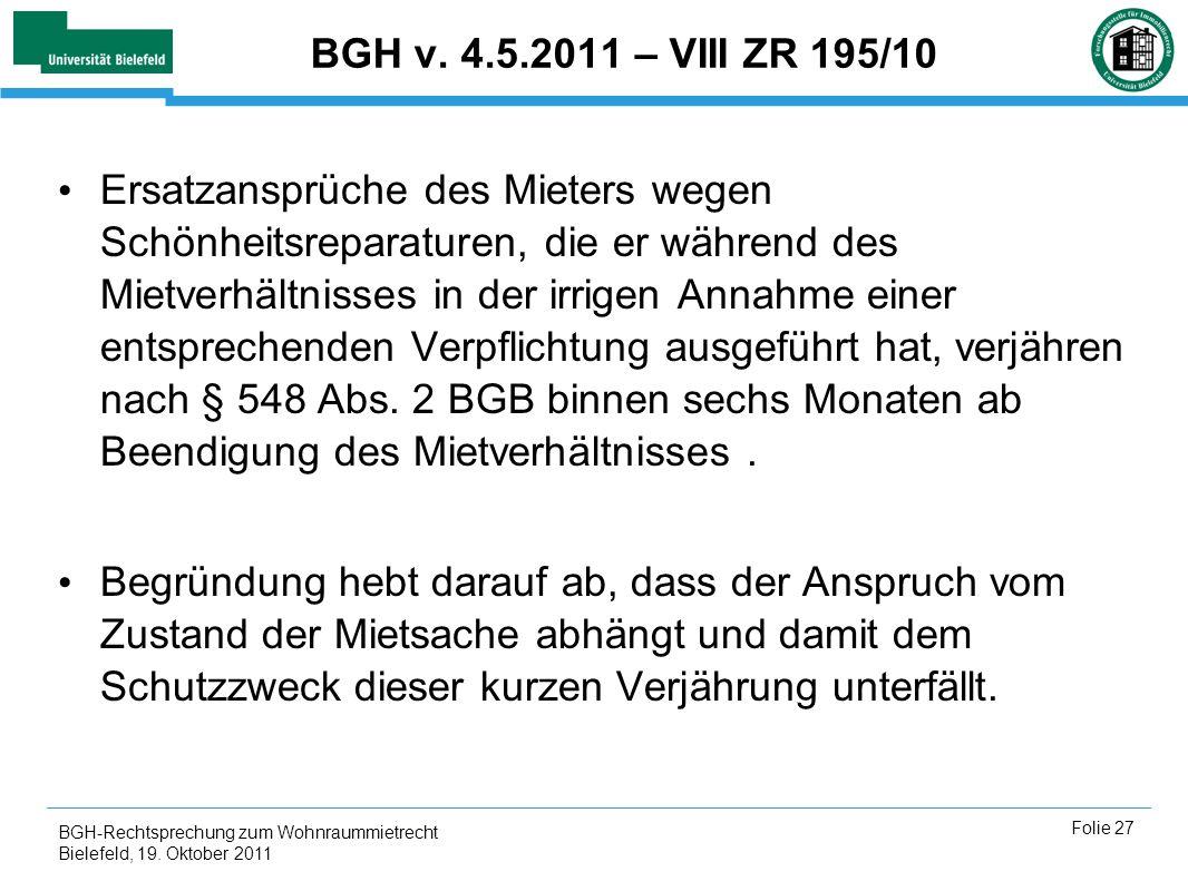 BGH v. 4.5.2011 – VIII ZR 195/10