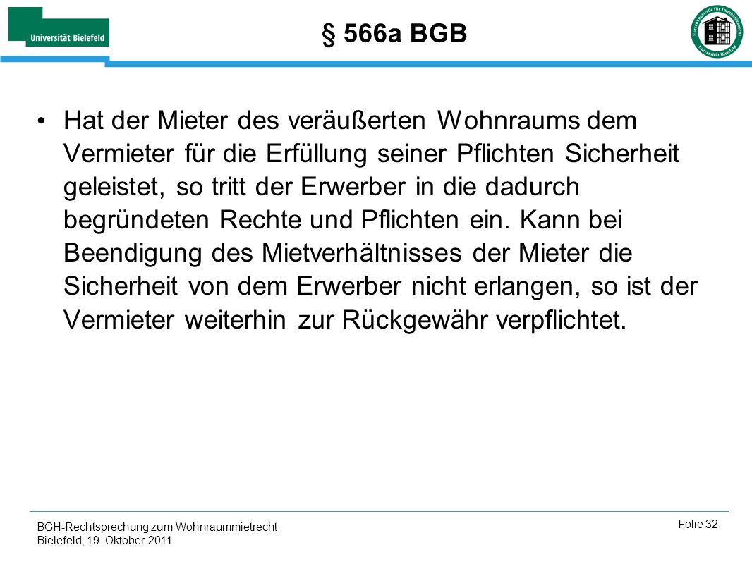 § 566a BGB
