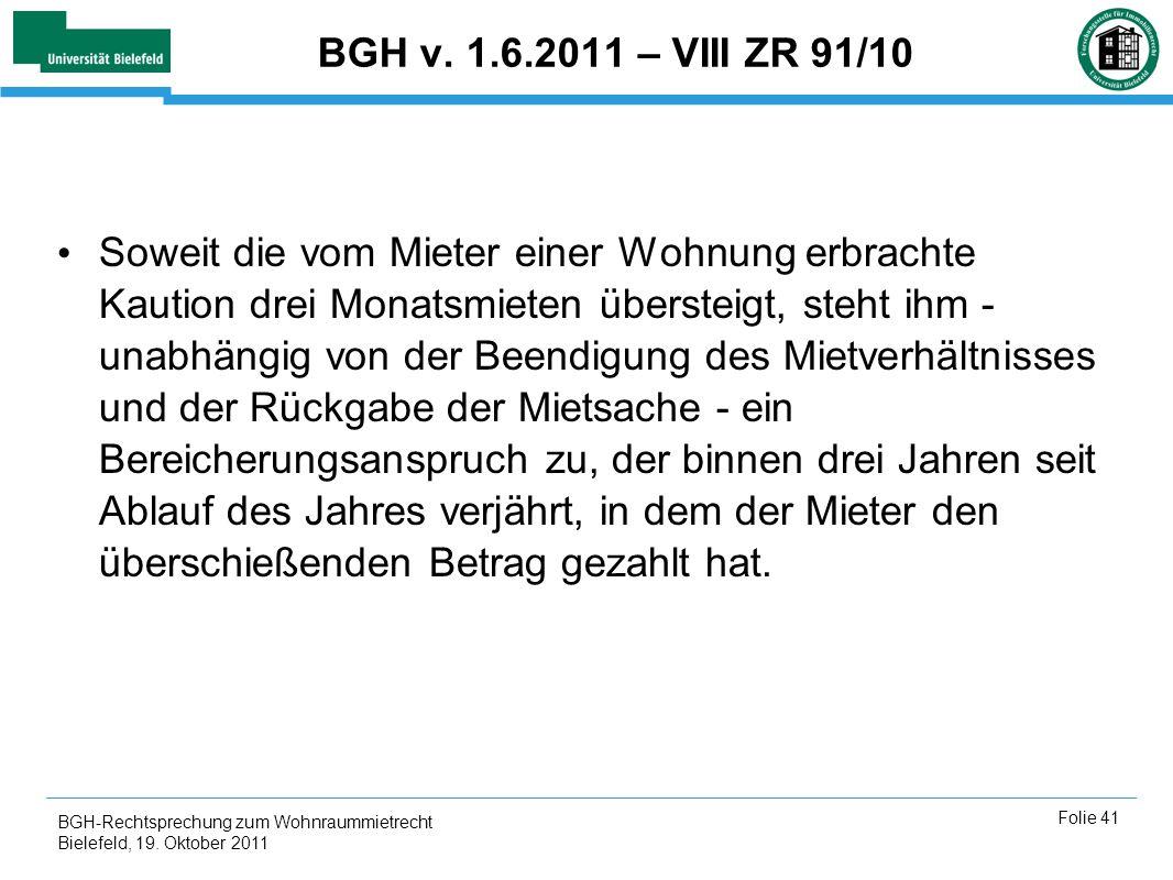 BGH v. 1.6.2011 – VIII ZR 91/10