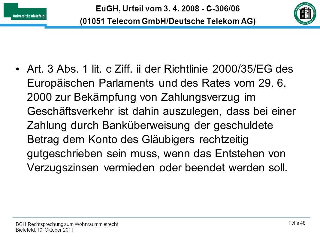 EuGH, Urteil vom 3. 4. 2008 - C-306/06 (01051 Telecom GmbH/Deutsche Telekom AG)