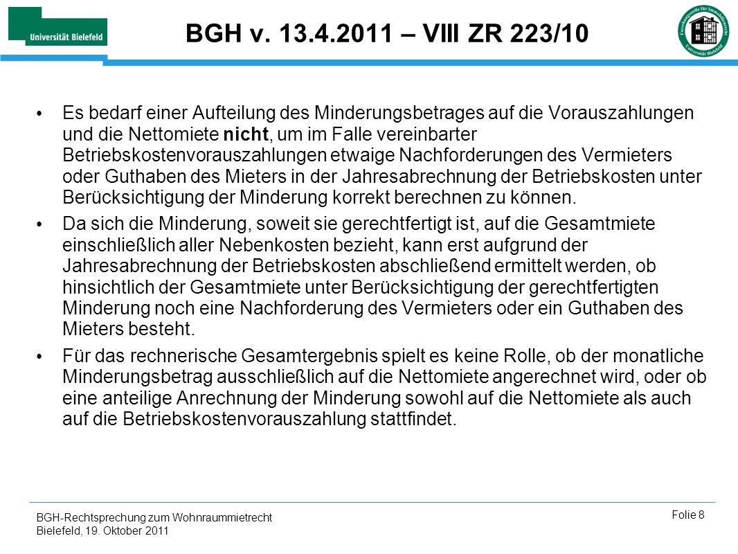 BGH v. 13.4.2011 – VIII ZR 223/10
