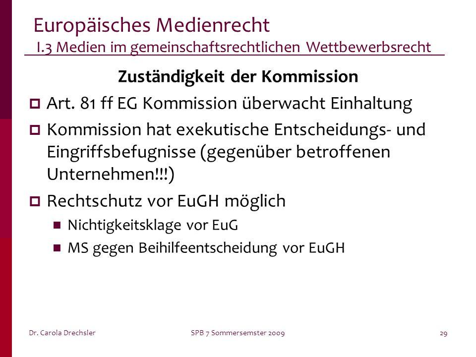 Zuständigkeit der Kommission