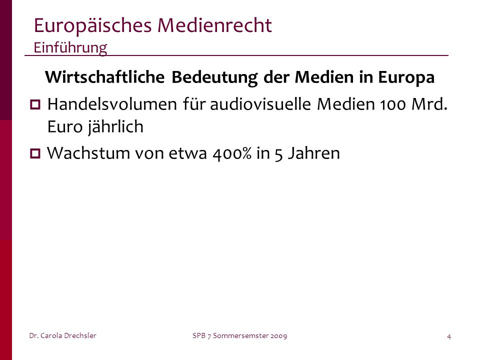Europäisches Medienrecht Einführung