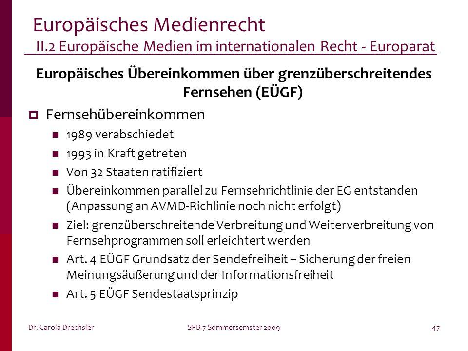 Europäisches Übereinkommen über grenzüberschreitendes Fernsehen (EÜGF)