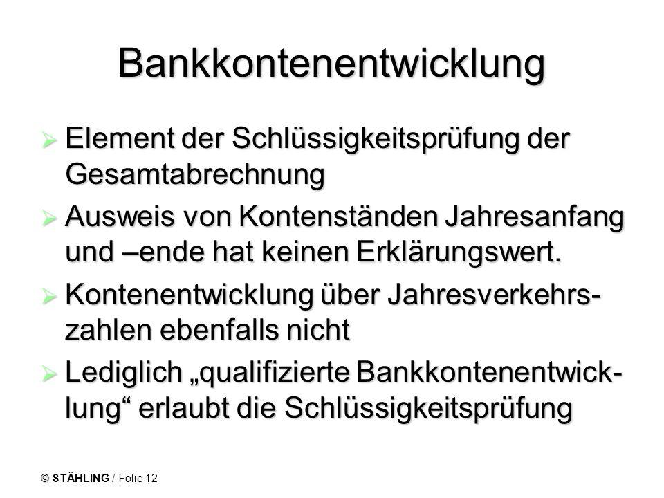 Bankkontenentwicklung