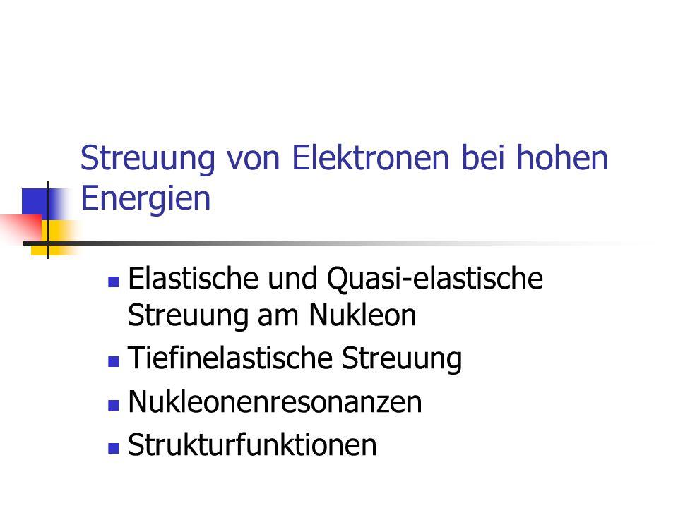 Streuung von Elektronen bei hohen Energien