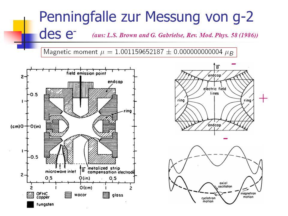 Penningfalle zur Messung von g-2 des e-
