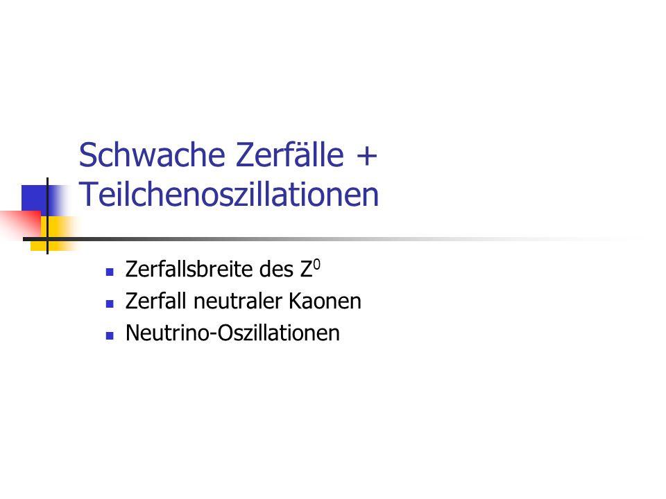 Schwache Zerfälle + Teilchenoszillationen