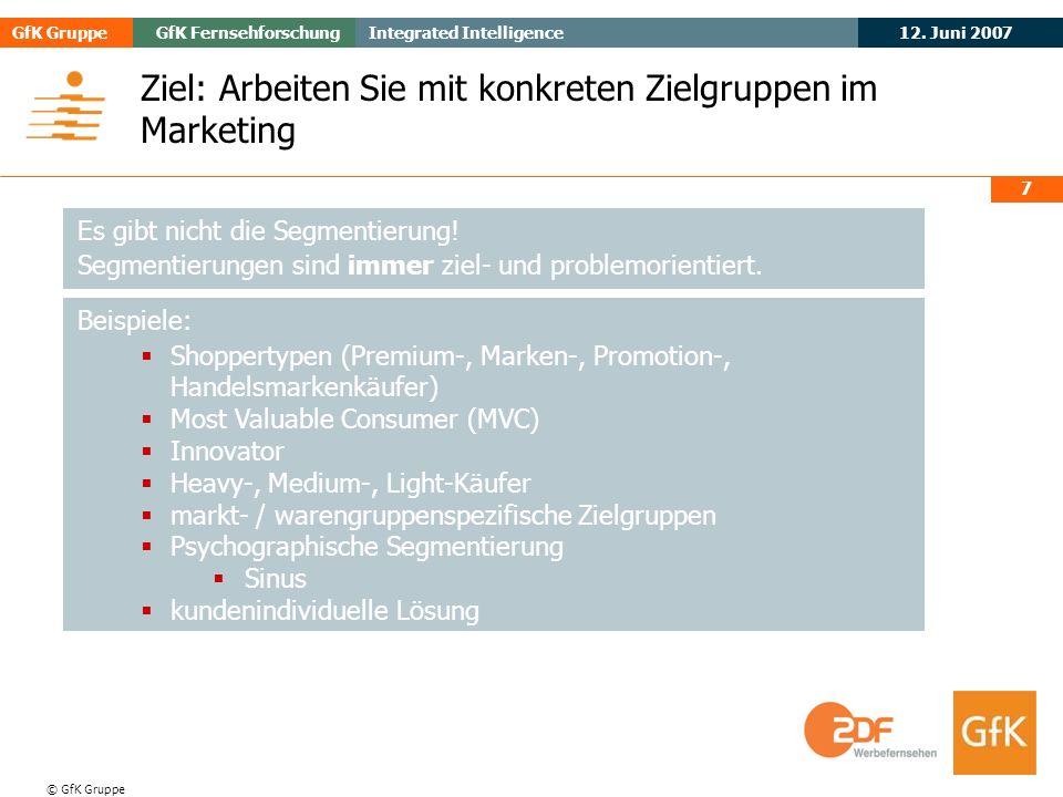 Ziel: Arbeiten Sie mit konkreten Zielgruppen im Marketing