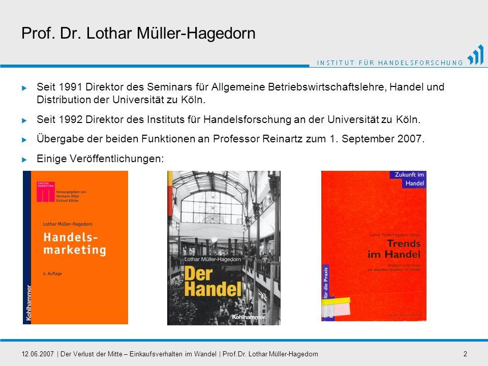 Prof. Dr. Lothar Müller-Hagedorn