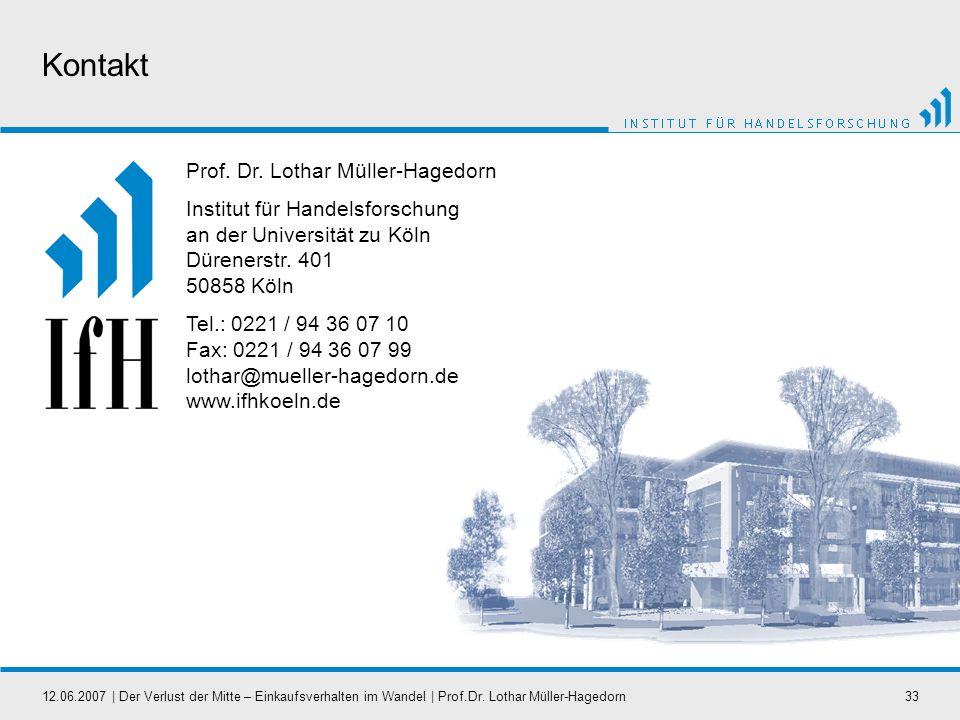 Kontakt Prof. Dr. Lothar Müller-Hagedorn
